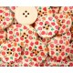 Botón de madera estampado rosas 30mm