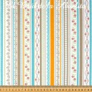 Polka Dot Stitches. Stripe Blue -  Riley Blake. 100% algodón