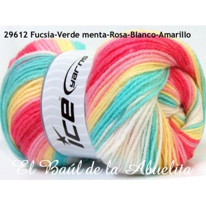 Ice Yarns Baby Batik - Lana extra suave rayas (self striping) 100gr.