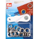 Prym kit 15 ojales metálicos color plata 11mm