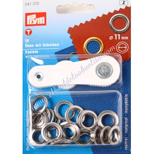 Prym kit ojales metálicos color plata (11 o 14mm)