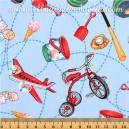 Corduroy & Co. Tossed Toys - Timeless Treasures. 100% algodón