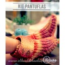 Kit Punto Pantuflas - Rosas Crafts