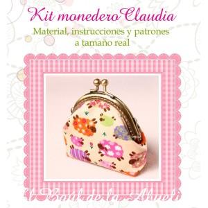 Kit monedero con boquilla Claudia (varias telas a elegir)