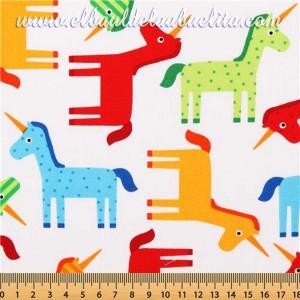 Wonder. Bright Unicorns  -  Robert Kaufman. 100% algodón
